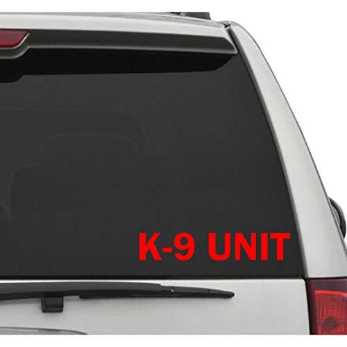 Seek Racing K-9 Unit Decal CAR Truck Window Bumper Sticker Dogs Caution Police