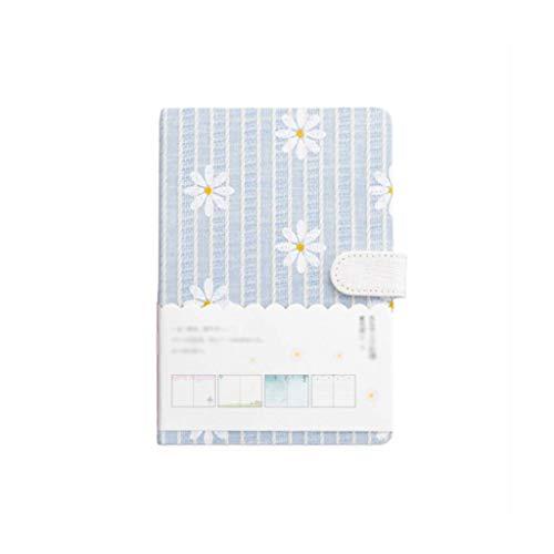 YZYZYZ Cuadernos Diario Diario Bloc de Notas Lindo Papel Floral Rayado de Tapa Dura Mujeres Adolescentes Cumplea?os de Aniversario (Color: Rosa) (Color : Azul Claro)