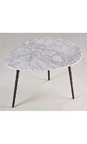 CAMINO A CASA - Table Basse Plateau Ovale marbre Cotton 83 cm