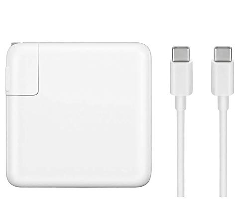 87W MacBook Pro Charger, Replacement USB-C to Type-C Ac Power Adapter Charger Compatible with MacBook Pro 15 Inch 13 Inch MacBook Air 13 Inch 2018 (87w)