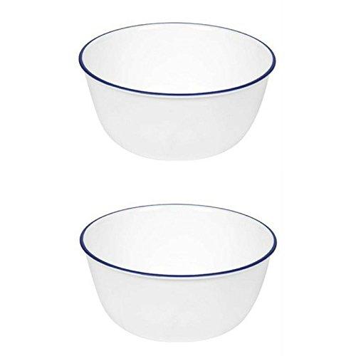 Corelle Livingware 28-Ounce Super Soup/Cereal Bowl, Navy Blue (3 Bowls) (1)
