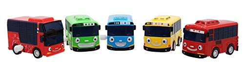 [SET] Tayo The Little Bus ちびっこバス タヨ ミニ 5ピース (タヨ + ロギ + ガニ + ラニ + シツ) [並行輸...