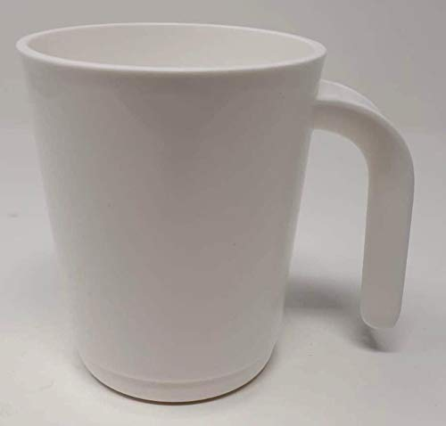 Tupper Tupperware Tasse Retro 350ml Becher Trinkbecher weiß Kaffee Tee Allegra