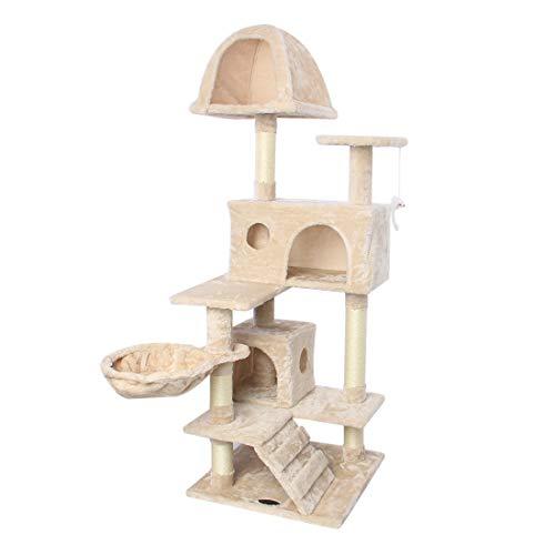 CUPETS Cat Tree Flannelette Cat Climber Pet Condo Furniture...