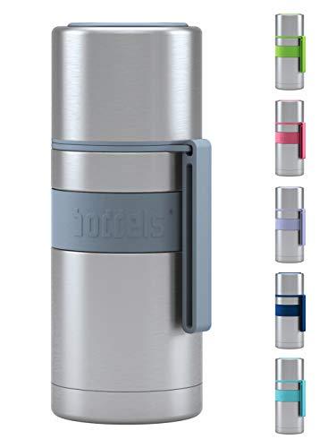 BODDELS Isolierflasche HEET 350 ml - Deine Thermoskanne für unterwegs (Hellgrau)