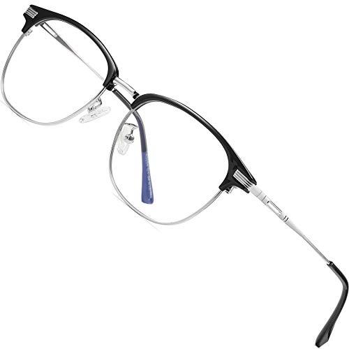ATTCL Gafas unisex con Armazón metal para Protección contra Luz Azul, Anti Fatiga por Deslumbramiento 5054 Gris