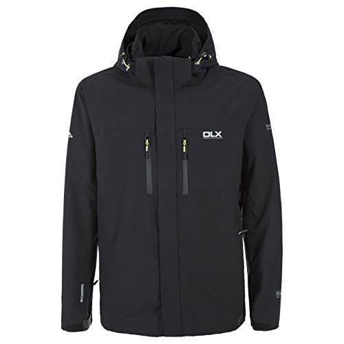 Trespass hombres Oswalt chaqueta impermeable, hombre, color Negro - negro,...