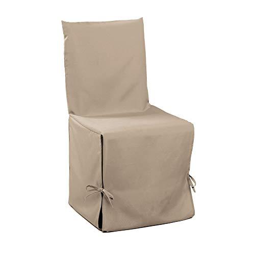 douceur d'intérieur housse de chaise nouettes 50x50x50cm essentiel lin