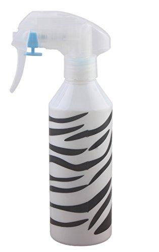 Vaporisateur pour salon de coiffure, bouteille en plastique, avec gâchette à brumisateur, 200 ml, motif rayures de zèbre (lot de 2)