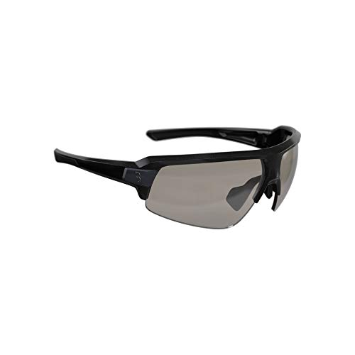 BBB Cycling Fahrradbrille Impulse PH | Herren und Damen Sportbrille Sonnenbrille mit Photochromatic Gläser | Polycarbonat Grilamid | MTB Rennrad Urban Radsport | Gloss Metallic Black | BSG-62PH