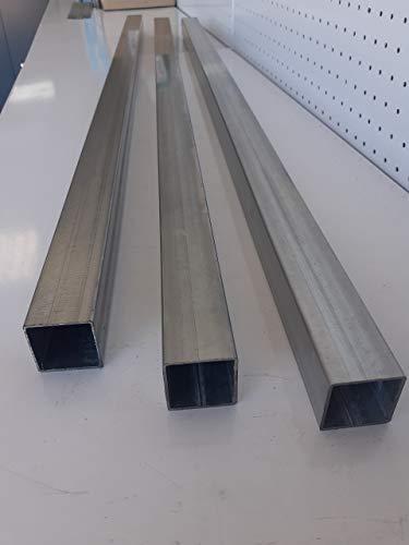 Tubo de hierro galvanizado cuadrado espesor 1,5mm (60mm x 60mm LARGO 2000mm)