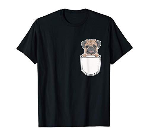 Regalo para el Dueño del Perro de Bolsillo Divertido Carlino Camiseta