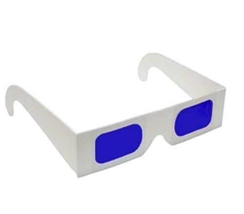 Generies Secret Decoder-Brille Blau-Blau-Filter Linse Weiße Farbe Faltbare Rahmenharzlinse 20Pcs