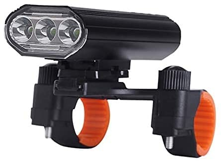 ZOUHANGDIAN 4000 Lumens Super Bright Bike Headlight 3 LED,9 Modes Light Runtime 15+ Hours Waterproof Bicycle Headlight and Taillight,Light for Road,MountainSafety Commuter Flashlight