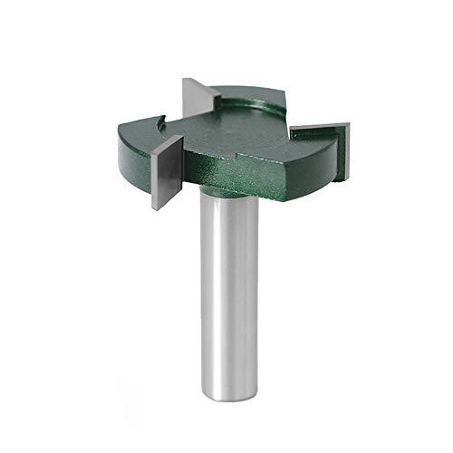 Bestgle1/2 pulgadas vástago CNC Spoilboard superficie fresadora brocas de grado industrial, 3 flautas de 5 cm de diámetro de corte para aplanar losa fresadora para carpintería