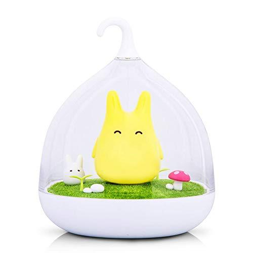Luz de noche Estilo de luz nocturna Totoro USB lámpara de luz portátil LED para el sensor táctil de regalo para la lámpara de la noche del bebé
