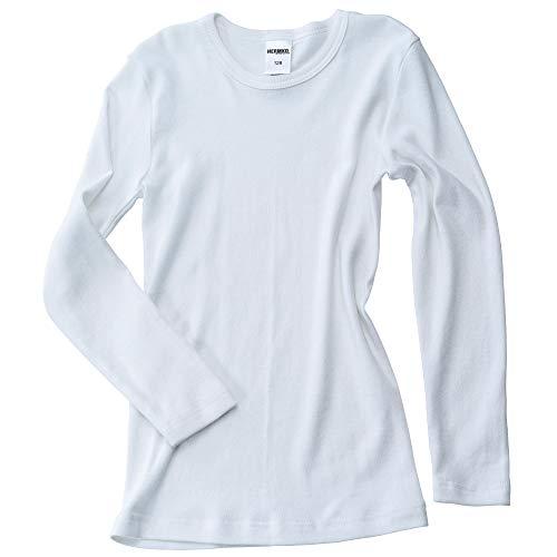 HERMKO 2830 3er Pack Kinder Langarm Unterhemd Mädchen + Jungen (Weitere Farbe) Bio-Baumwolle, Farbe:weiß, Größe:98