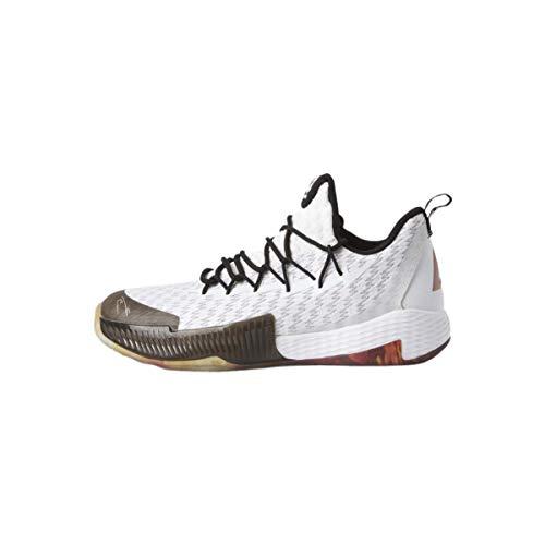 Peak Lou Williams 2 - Zapatillas de baloncesto unisex con suela perfilada, color blanco y negro, talla 45
