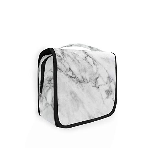 XIXIKO Trousse de toilette pliable à suspendre Motif marbre