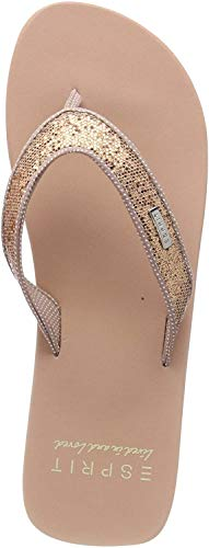 ESPRIT Damen Glitter Thongs Pantoletten, Beige (Nude 685), 38 EU
