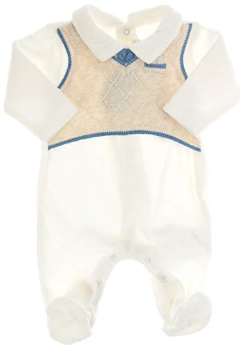 Mayoral - Pantalón de Peto - para bebé niño Blanco-Amarillento 74 cm