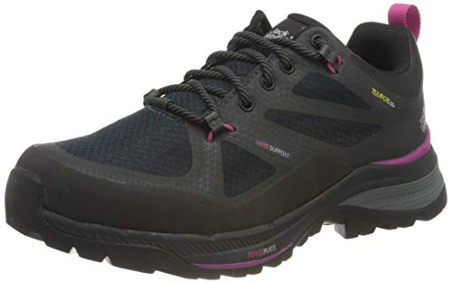 Jack Wolfskin Damen Force Striker Texapore Low Walking-Schuh, Phantom/Pink, 43 EU