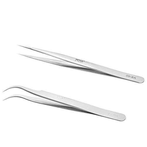 Vetus Pro ESD SAFE Fine Tip Straight Pince à épiler Non-magnétique Anti Statique TS-11 ESD