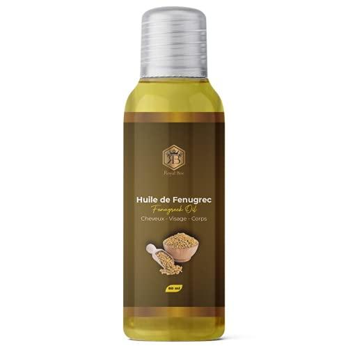 Huile de Fenugrec - 100% Pure et Naturelle - Vegan - Corps, Poitrine, Fesses, Cheveux, Ongles - soin visage et corps- tonifie et augmente la...