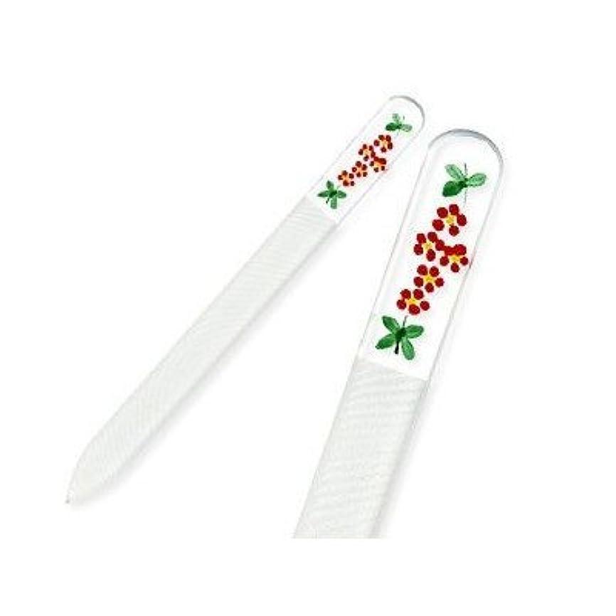 死すべき真鍮実質的にハンドペインティング(#172R)赤い小花