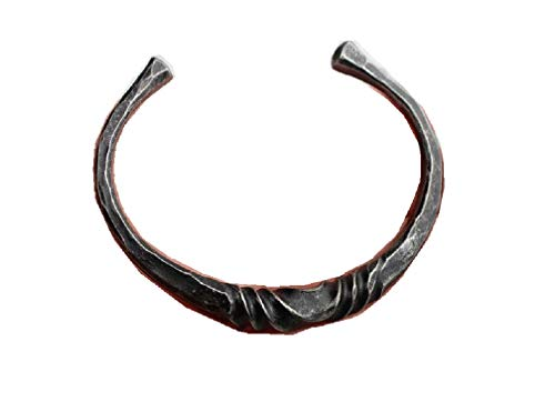 Twisted Iron Torc Viking Celtic Bracelet Medieval Jewelry - Large