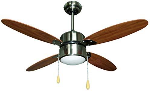 Zephir ZFS4108M Ventilador de techo con lámpara, marrón