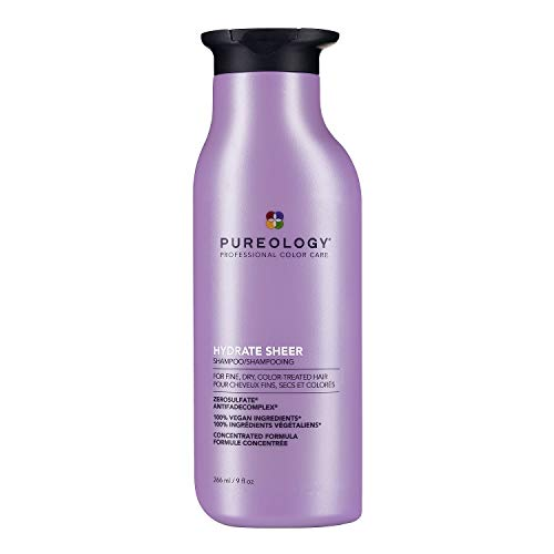 Pureology Hydrate Sheer Shampoo | For Fine, Dry, Color-Treated Hair | Lightweight Hydrating Shampoo | Silicone-Free | Vegan | Updated Packaging | 9 Fl. Oz