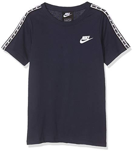NIKE AV8390 Camiseta de Manga Corta, Niños, Azul (Obsidian/White), M
