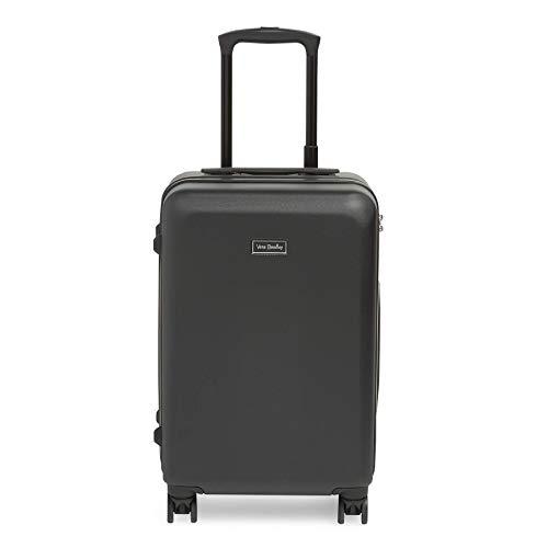 Vera Bradley Hardside Rolling Suitcase Luggage, Classic Black, 22' Carry On