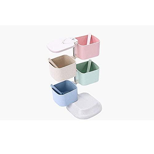 Spice opslag tarwe stro kruiden jar verticale roterende kruiden box huishoudelijke keuken kruiden box kruiden jar set…
