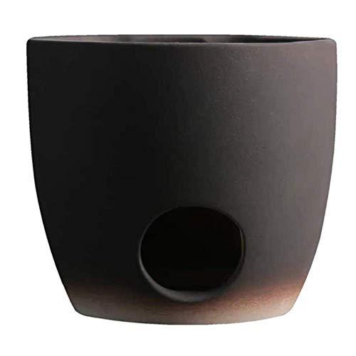 Estufa de cerámica de arcilla blanca Jingdezhen negra, estufa de té
