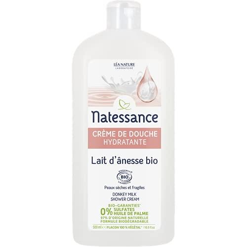 Natessance Hygiène Douche Crème Lait D'anesse sans Sulfates - Bio - 500 ml
