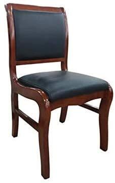 Sessel FHW Büromöbel Konferenzstuhl, PU-Leder Rückenlehne Stuhl for Home/Wohnzimmer/Studie/Hotel/Empfangssaal Schwarz 45x45x90CM (Color : Black, Size : 45x45x90CM)