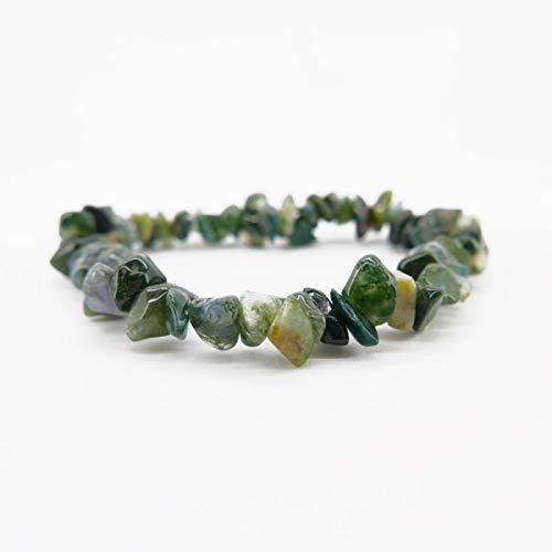 Pulsera Chip Agata Musgosa Minerales y Cristales, Belleza Energética, Meditacion, Amuletos Espirituales