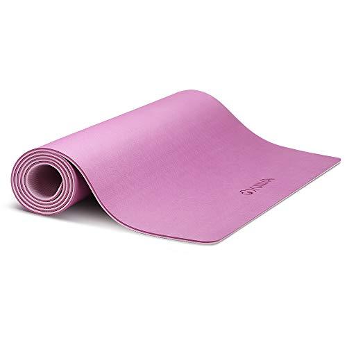 YUNMAI Esterilla de Yoga Antideslizante, Colchoneta de TPE Ecológico Alfombrilla de Doble Cara para Pilates Yoga Ejercicio Meditación Fitness con Bolsa de Almacenamiento, 183 X 61 X 0,6 cm