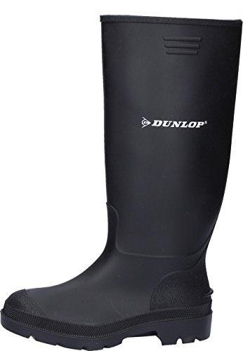 Dunlop Schwarzer preiswerter Gummistiefel aus PVC Arbeits u. Freizeitbereich, 36