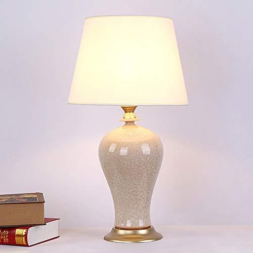 HFA American High-End-Tischlampe Warm Schlafzimmer Nachttischlampe Keramik-Vase Modelling Schrei