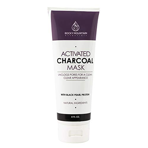 Anti-Aging Face Mask Cream with Activated Charcoal Bentonite Clay and Black Pearl, Remove...