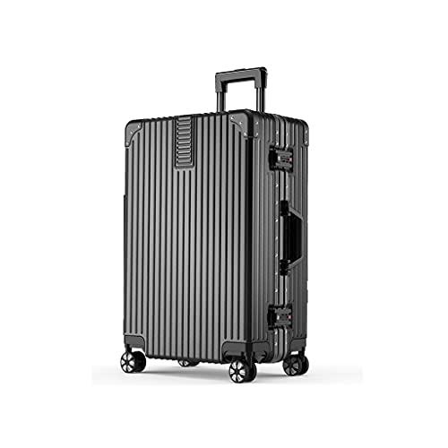 LOMJK Maleta, ABS + PC Material Caja de la Carretilla de Gran Capacidad Ajustable 26 Pulgadas Estudiante de 26 Pulgadas Contraseña de Equipaje, Adecuado para Viajes a la Familia de Negocios