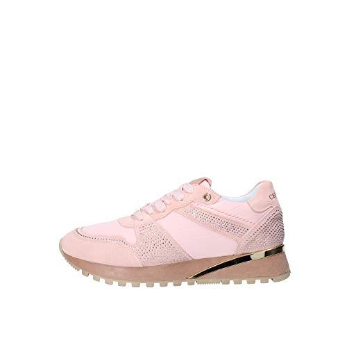 Cesare P by Cesare Paciotti - Zapatillas deportivas para mujer PITPH7503WRI de tela y ante Rosa Size: 40 EU