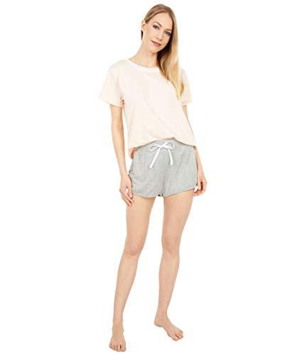 Splendid Slub Tee and French Terry Shorts Set Pale Dogwood/Grey Heather SM (US 2-4)