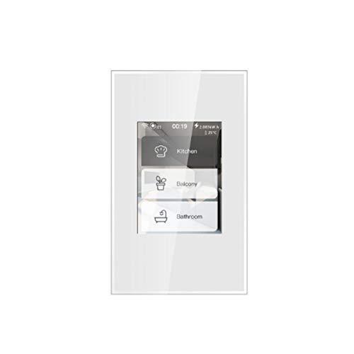 LCD Schermo Intelligente a colori Touch Smart Home Switch 5 Modelli in 1 Illuminazione Interruttore Touch Luci e Dimmer Tapparelle e Serrande Smart Home Schermo WiFi compatibile Alexa e Google Home