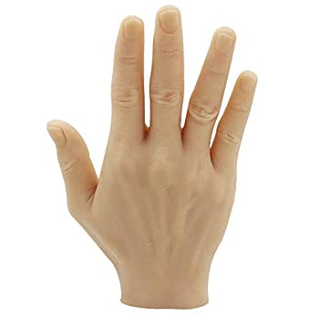 Tattoo Practice Fake Hand - Yuelong Silicone Right Palm Tattoo Practice Hand Fake Skin Tattoo Hand Practice Skin Dummy Fake Tattoo Skin for Tattoo Artists and Beginners Tattoo Supplies  Right