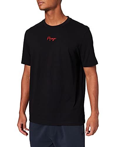 HUGO Herren Durned214 T-Shirt, Black1, L