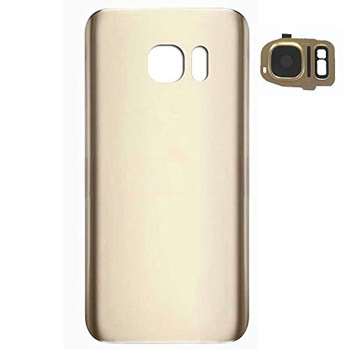 UU FIX Tapa de Batería para Samsung Galaxy S7 Edge SM-G935F (Dorado) de la Reemplazo Parte Trasera Battery Cover con Kit Reparación.
